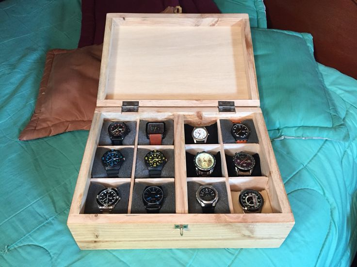 Watch Storage DIY - Caja para guardar relojes!!!