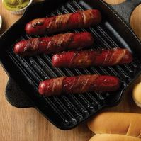 Bacon & Brown Sugar Wrapped Kobe Beef Hot Dogs by @mytexaslife