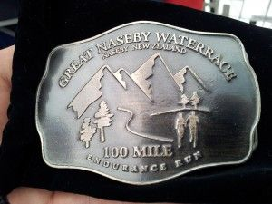 Great Naseby Water Race 100 Mile ultramarathon belt buckle in Otago, NZ