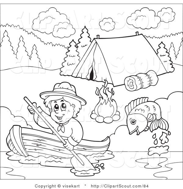 8 best scout clip art images on pinterest | clip art, beaver ... - Girl Scout Camping Coloring Pages