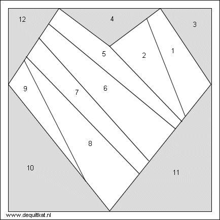 Paper Pieced Heart Quilt Block - http://www.dequiltkat.nl/gratis-patroon-hartje.gif