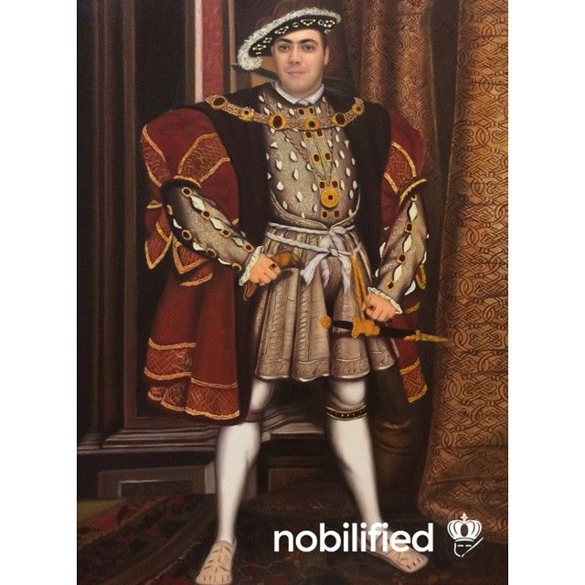 Henry VIII - Hans Holbein Commission your own at nobilified.com
