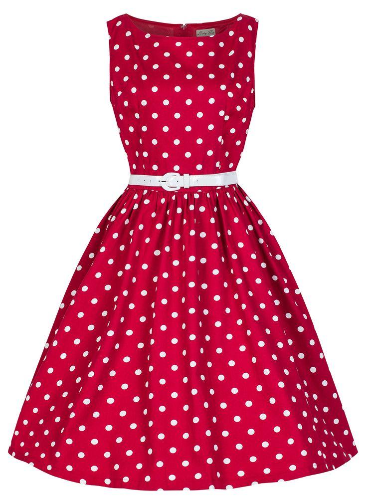Zuckersüßes Vintage-Outfit in Rot für die Trauzeugin oder die Brautjungfern!