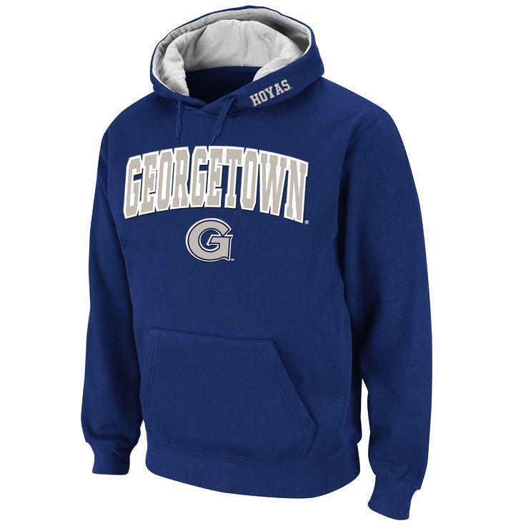 Georgetown Hoyas Stadium Athletic Arch & Logo Pullover Hoodie - Navy - $27.99