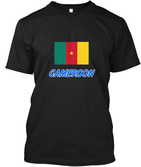 Cameroon Flag Artistic Blue Design Black T-Shirt Front - This is the perfect gift for someone who loves Cameroon. Thank you for visiting my page (Related terms: I Heart Cameroon,Cameroon,Cameroonian,Cameroon Travel,I Love My Country,Cameroon Flag, Cameroon Map, #Cameroon, #Cameroonshirts...)