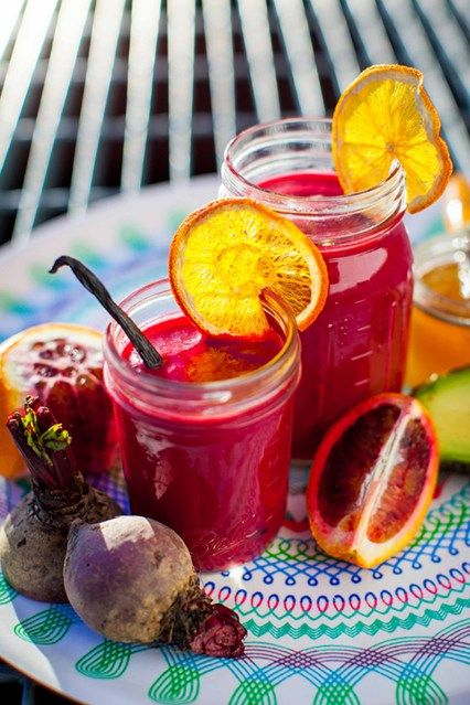 Read on for a delicious smoothie recipe by Hemsley + Hemsley made from beetroot, blood oranges and avocado brought to you by Vogue.co.uk.