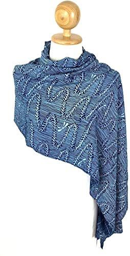 Best Seller Winter Scarf Sun Protection Hand Weaved Indigo Dyed Natural Fiber Soft Touch Scarf Women Men (#03) online   – Womens Scarves
