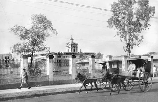 Have you ever imagined España Boulevard without its jeepneys, motorcycles and private vehicles? Have you ever imagined Sampaloc area of Manila without high-rise buildings? This photo shows the University of Santo Tomas during post-war era (1945-1946) This photograph belongs to the personal collection of John Tewell. Originally, it was taken by an aid to Gen. Douglas MacArthur. It is a one of a kind snapshot.