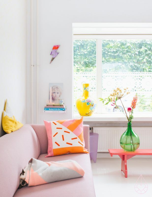 dream home | living room - bright + colorful