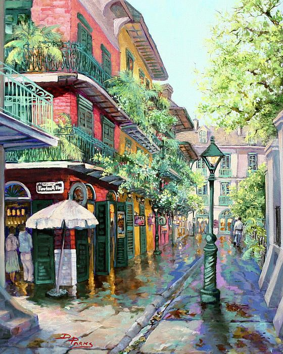 Pirates Alley Painting by Dianne Parks - Pirates Alley Fine Art Prints and Posters for Sale