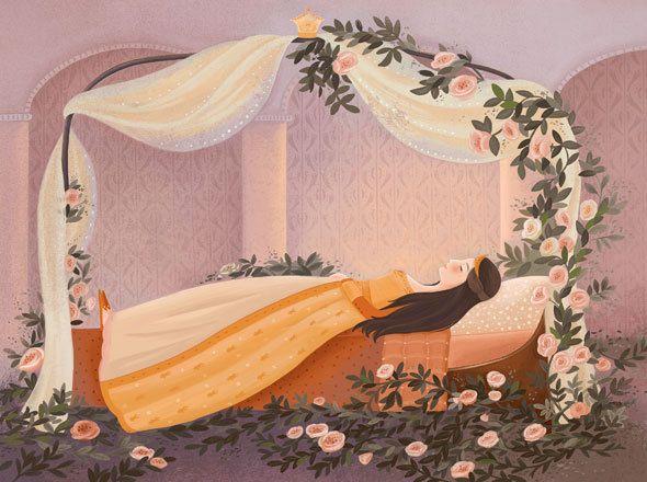 Sleeping Beauty / Ladybird Books / Livia Coloji