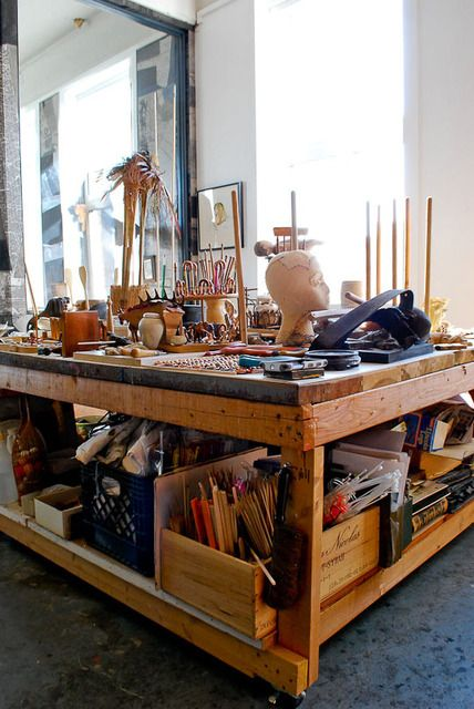 workspace on casters.
