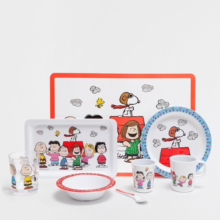 Snoopy melamine dinnerware and placemat