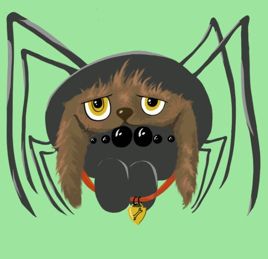 """I want to be a puppy!"" said the spider - Art of Timi Turzo"