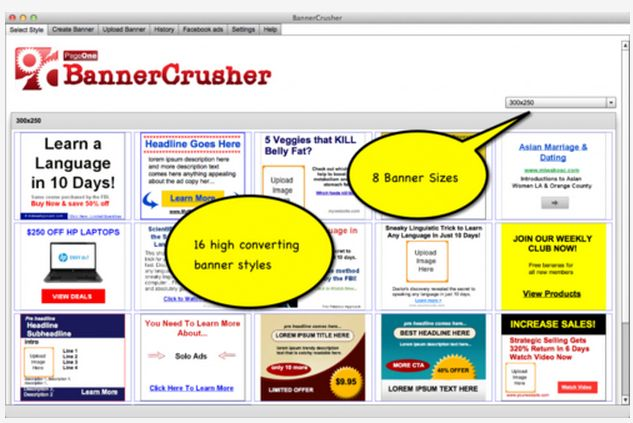 Banner Crusher Review and Download – Quickly Create Banner Ads And Facebook Marketing Graphics