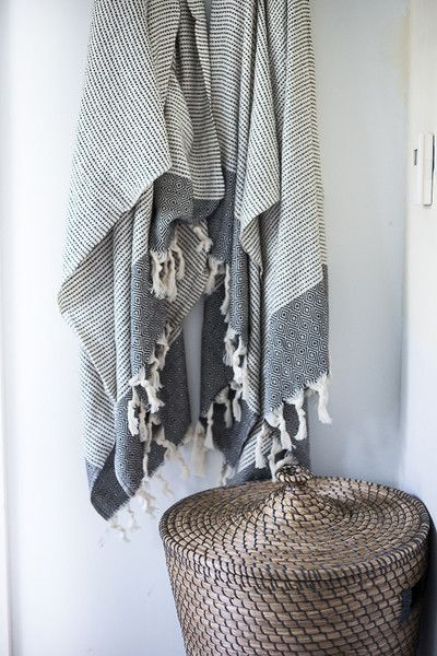 Turkish baths (hammam) have a rich history, dating back to the Ottoman Empire. These bath towels, called peştemal in Turkish, are hand loomed in the same villag