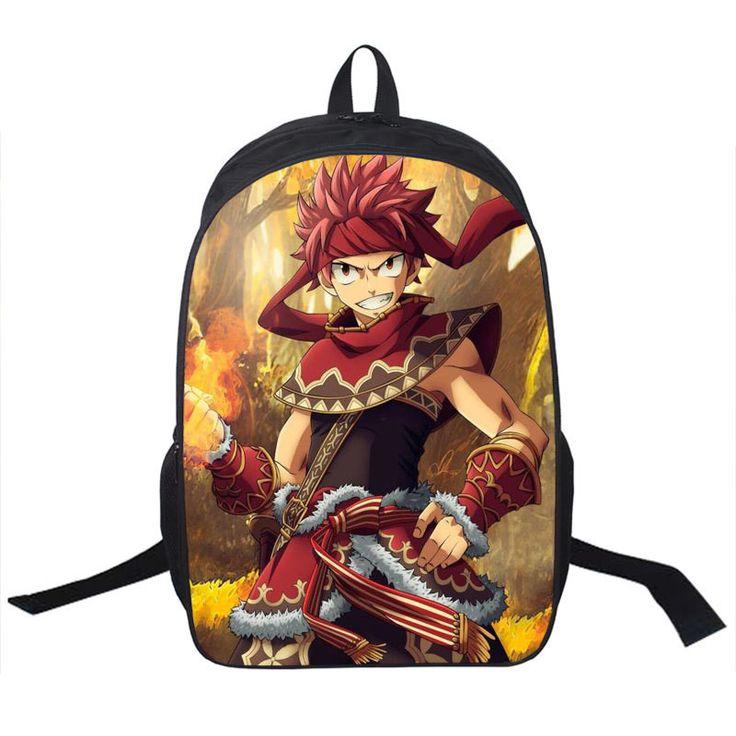 FAIRY TAIL Backpack For Teenagers Girls Boys School Bags Natsu Dragneel Daily Backpack Erza Scarlet School Backpacks Kids Bag