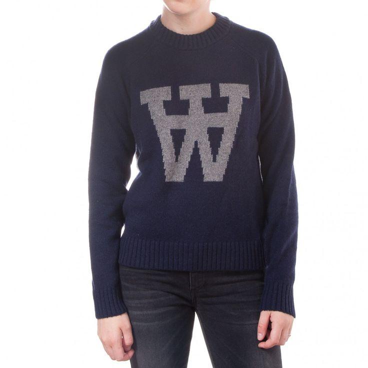 Wood Wood Prospect Sweater (Navy)