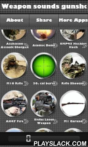 Weapon Sounds Gunshots  Android App - playslack.com ,  Need some shooting sounds and gun ringtones for Android phone? Want to wake a hunter in you? Download our Weapon Sounds Gunshots App and amuse yourself now! We made it easy for you to browse and search the weapon effects in our app. You can set pistol shot sounds or revolver shooting as a melody ringtone or message alert tones. Also, set weapon sound effects as widget, alarm or timer sounds. You can set a sound as a tone for sms or any…