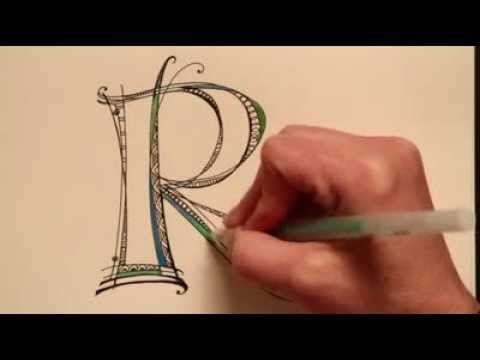Video of how to do letters - definitely fun and worth a watch!Drawing Letters, To Drawing, Definition Fun, Diy Crafts, Hands Letters, Letters Tutorials, How To Draw, Holy Cows, Fancy Letters