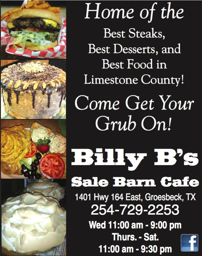 Billy B S Sale Barn Cafe Groesbeck Tx