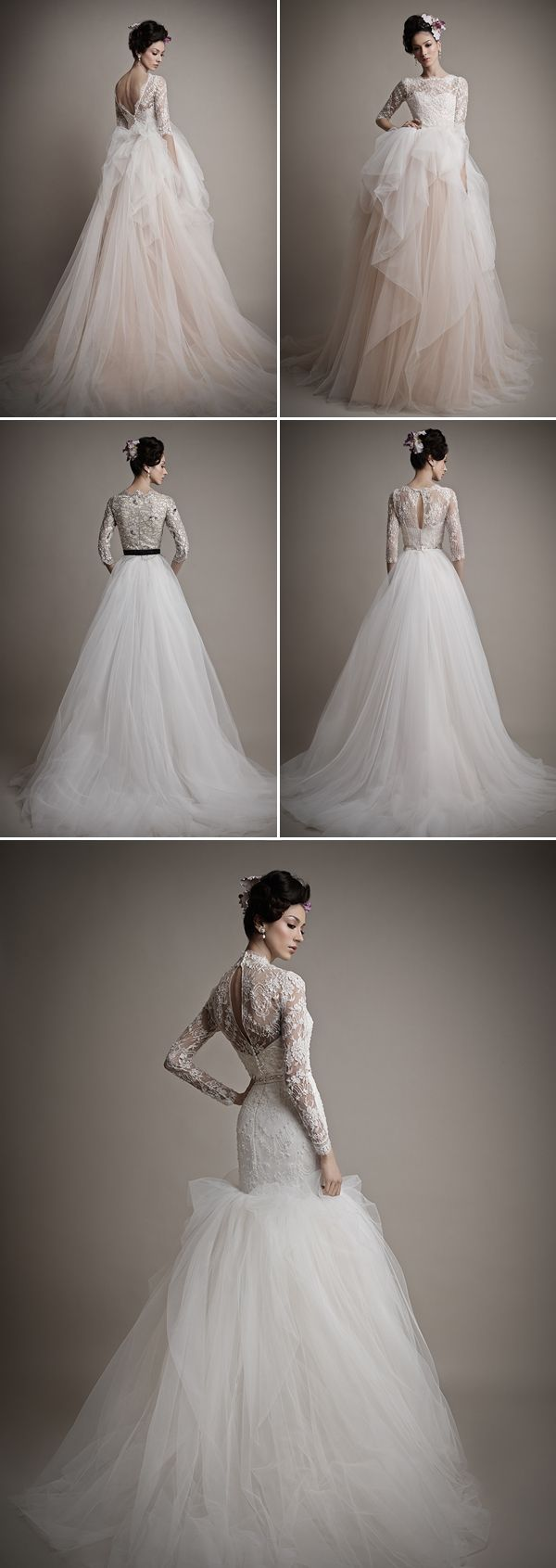 1000 ideas about most beautiful dresses on pinterest for Most beautiful long sleeve wedding dresses