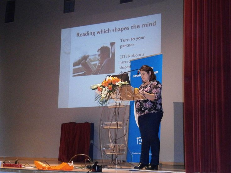 Maria Sachpazian presenting at the TESOL GREECE Preveza evnt, October 2014