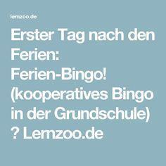 Erster Tag nach den Ferien: Ferien-Bingo! (kooperatives Bingo in der Grundschule) ⋆ Lernzoo.de