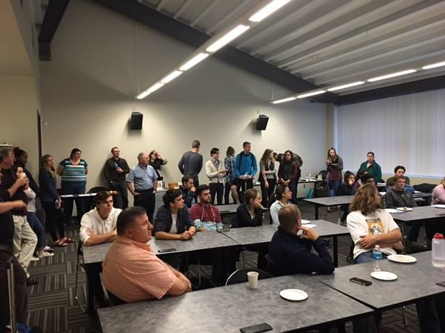 """Math and Science Dept. hosted informal """"Pie Q&A"""" meeting for science students on October 19. Thank you to all participants!"""