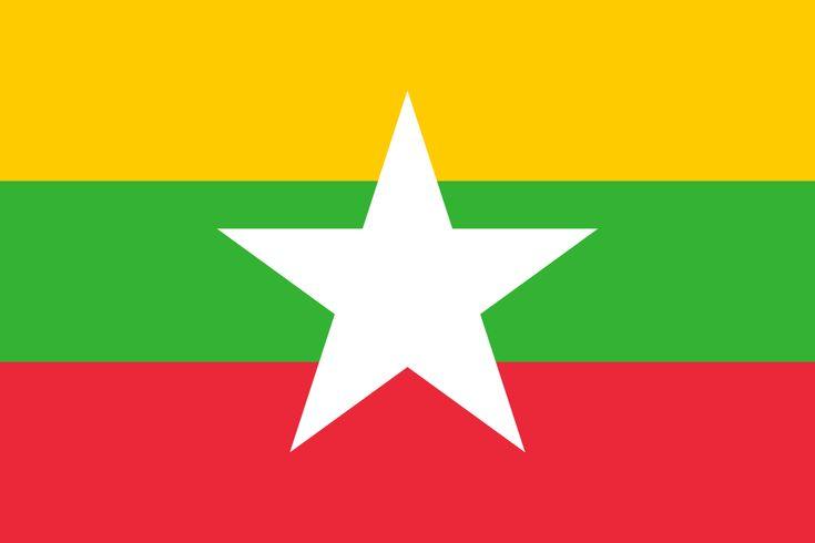 Flag of Myanmar - Galeria de bandeiras nacionais – Wikipédia, a enciclopédia livre