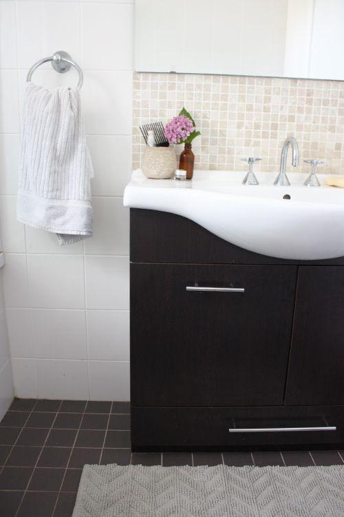 black tile for shower floor