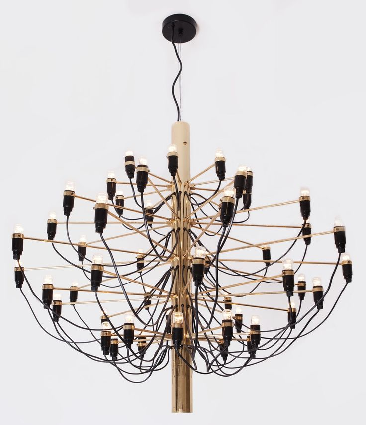 Gino Sarfatti; #2097/30 Brass Ceiling Light, 1958.