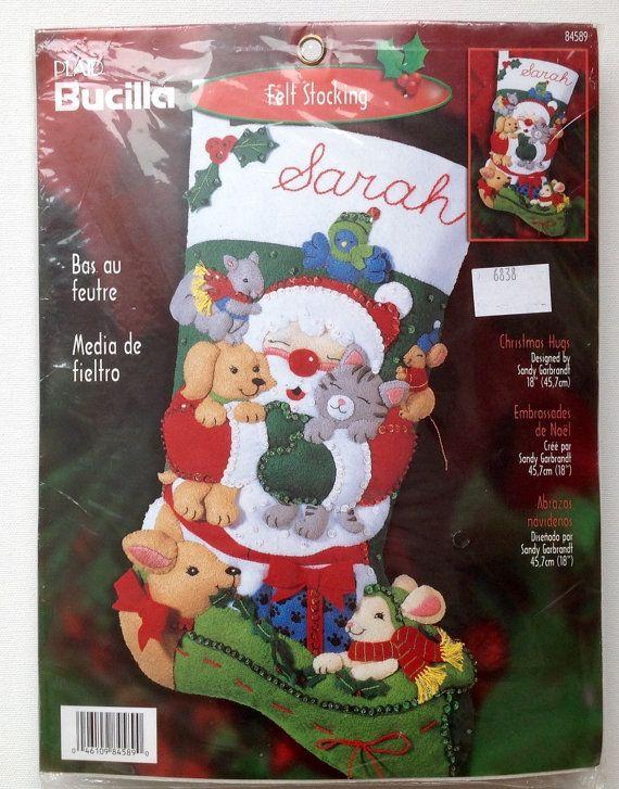 Bucilla Christmas Hugs 84589 NIP Unopened by StitchesByElizabeth