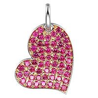 Ruby gold heart pendant