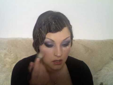 roaring 20's hair & crazy make-up!