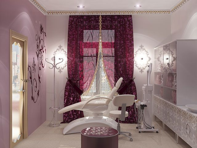 burgundy interior beauty salon pinterest. Black Bedroom Furniture Sets. Home Design Ideas