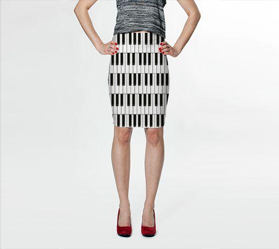Piano Keys Bodycon Skirt - Available Here: http://artofwhere.com/shop/product/40365