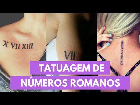 Guia Tatuagem: Tatuagem de números romanos - Diário da Aninha