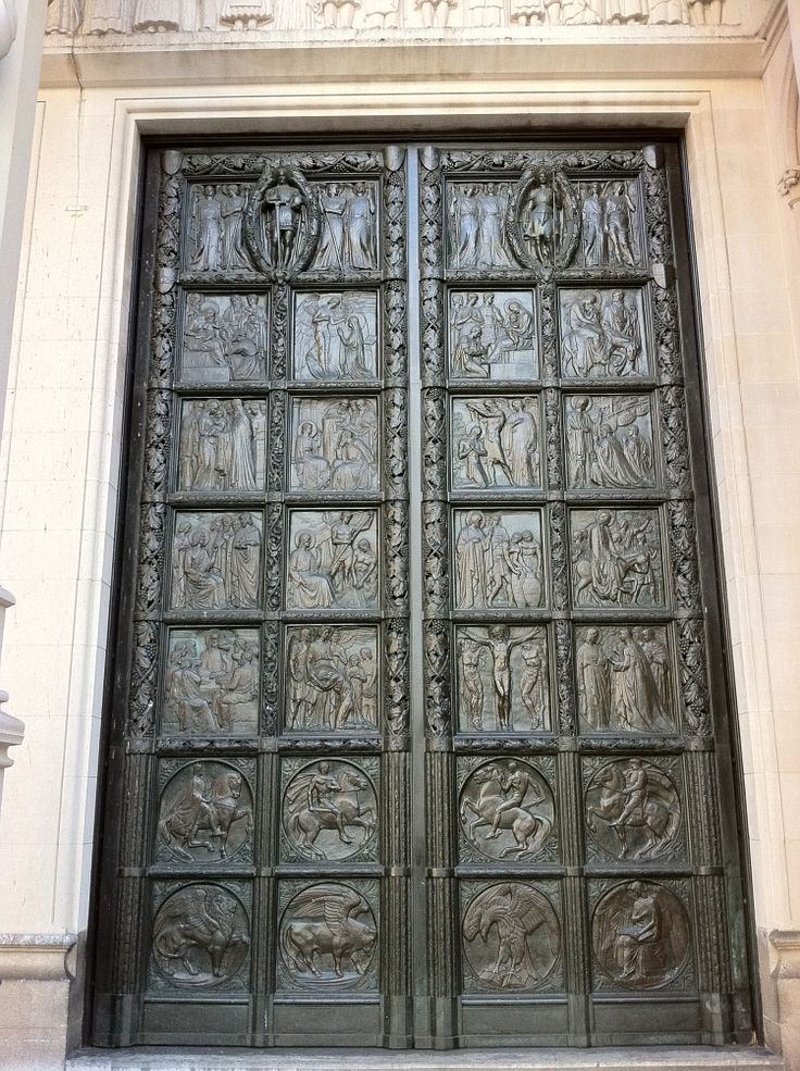 Left Hand Bronze Doors Double Door Solid Wood Antique Home