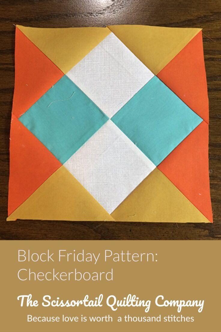 Checkerboard Quilt Block Pattern - Free download