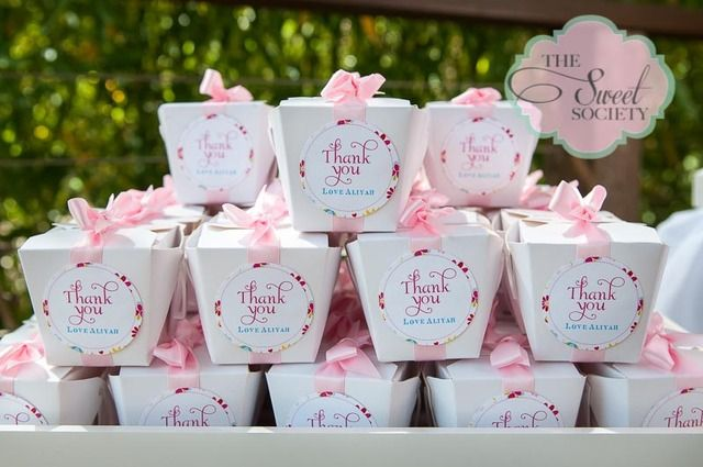 Such pretty favors at a Garden party!   See more party ideas at CatchMyParty.com!  #partyideas #garden