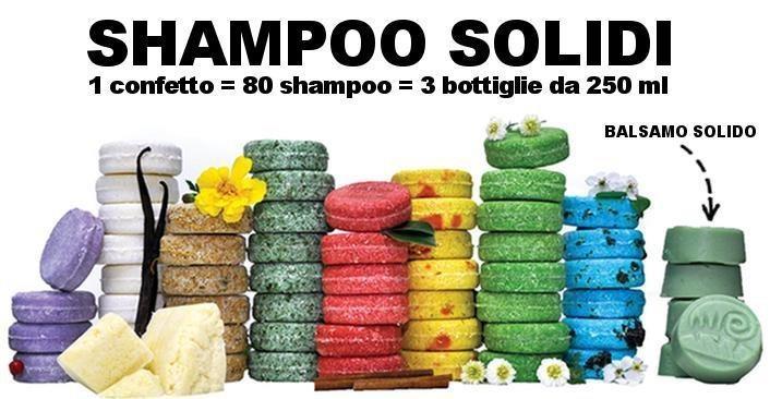 Confetti di shampoo che durano molto di più di molti fidanzamenti e non si rovesciano mai.