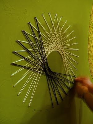 Nine Red: How To: String Wall Art