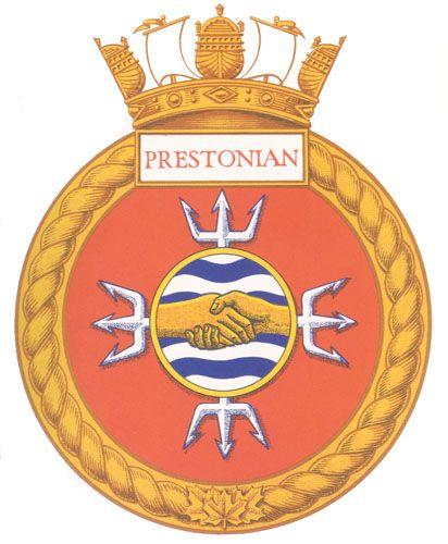 HMCS PRESTONIAN Badge - The Canadian Navy - ReadyAyeReady.com