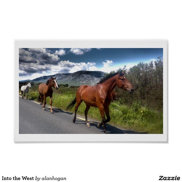 'Into the West' - poster https://www.zazzle.com/z/yocwm?rf=238779165964117583 … via @zazzle #horse #ireland #road #horses #nature #landscape #photography #zazzle #equine