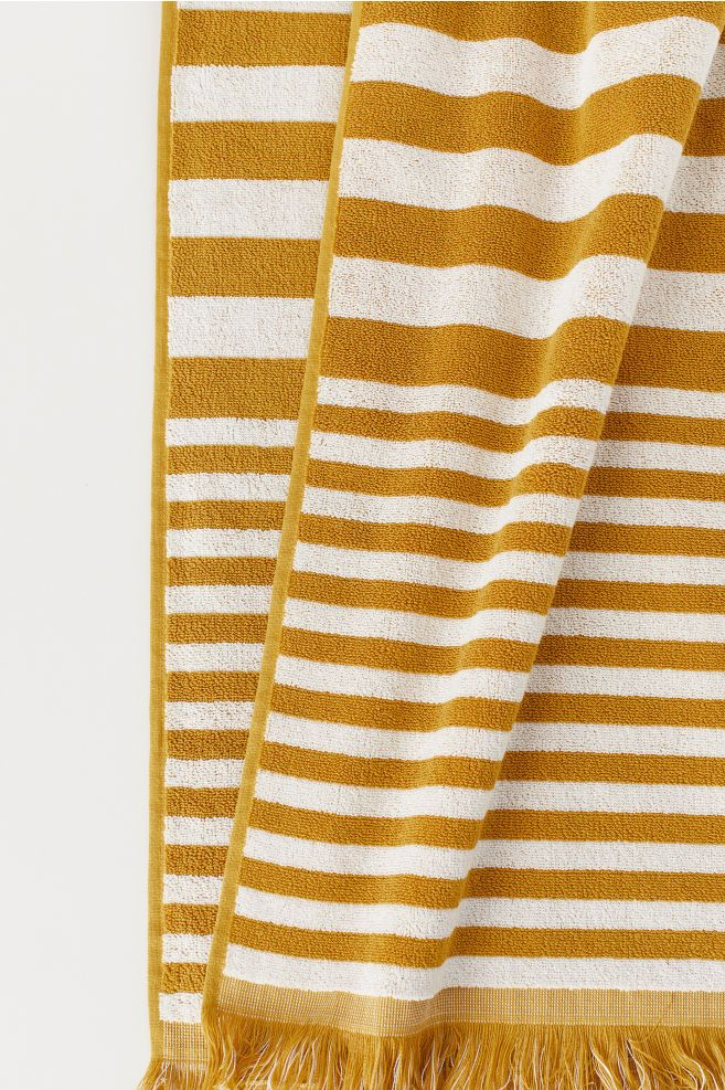 Striped Bath Towel Yellow Towels Towel Bath Towels