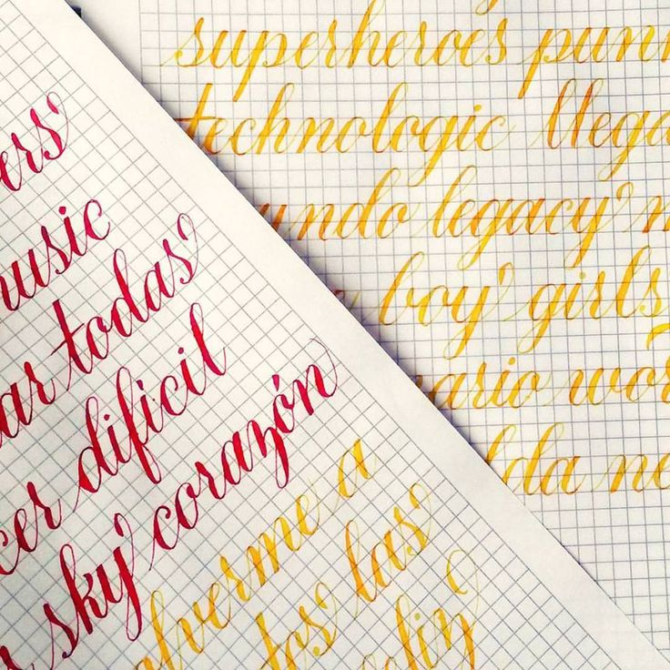 #caligrafía #copperplate con pluma oblicua, tipografía
