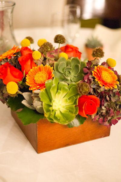 Fun Colorful Centerpieces For Fall The Neighborhood Church Wedding Photography Redondo Beach