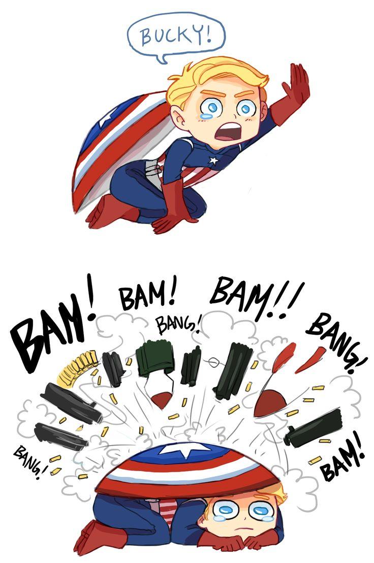 Cap finds Bucky fanart by princecanary