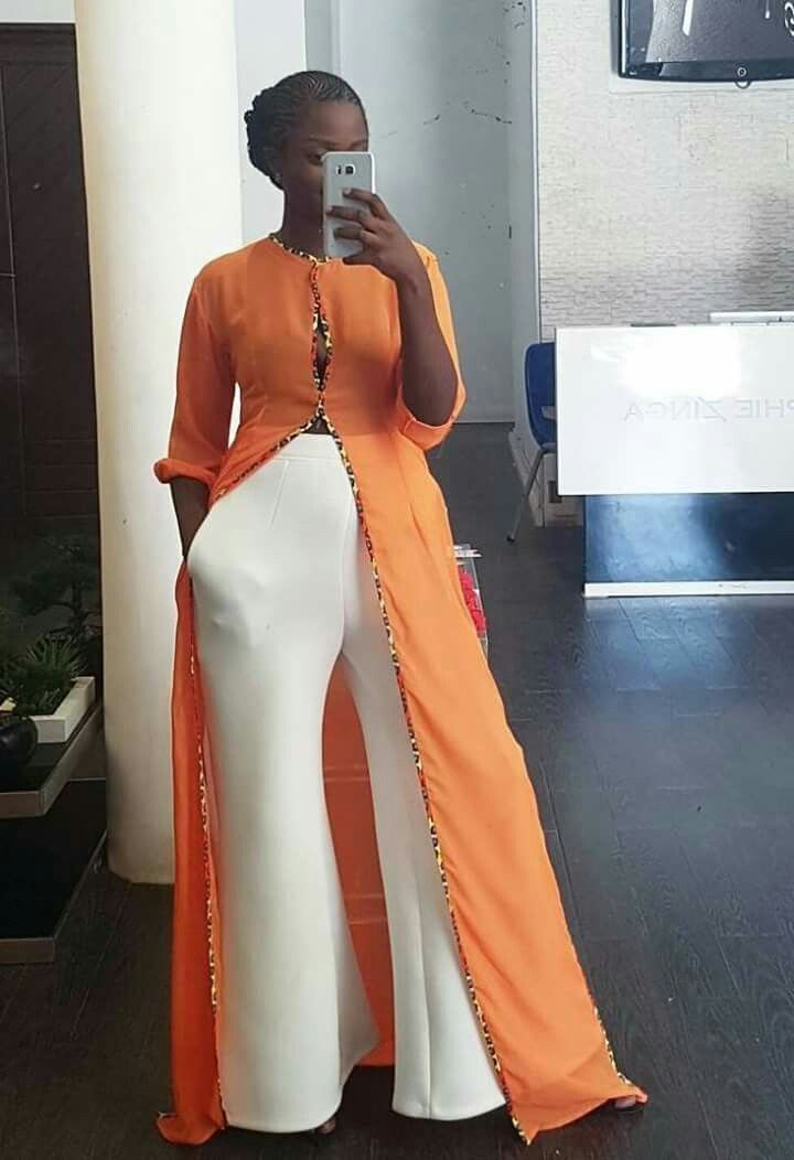 Editor's #Style Picks - Orange designs + White   #ZenMagazine | For more click www.zenmagazineafrica.com  Fashion by Sophie Zinga